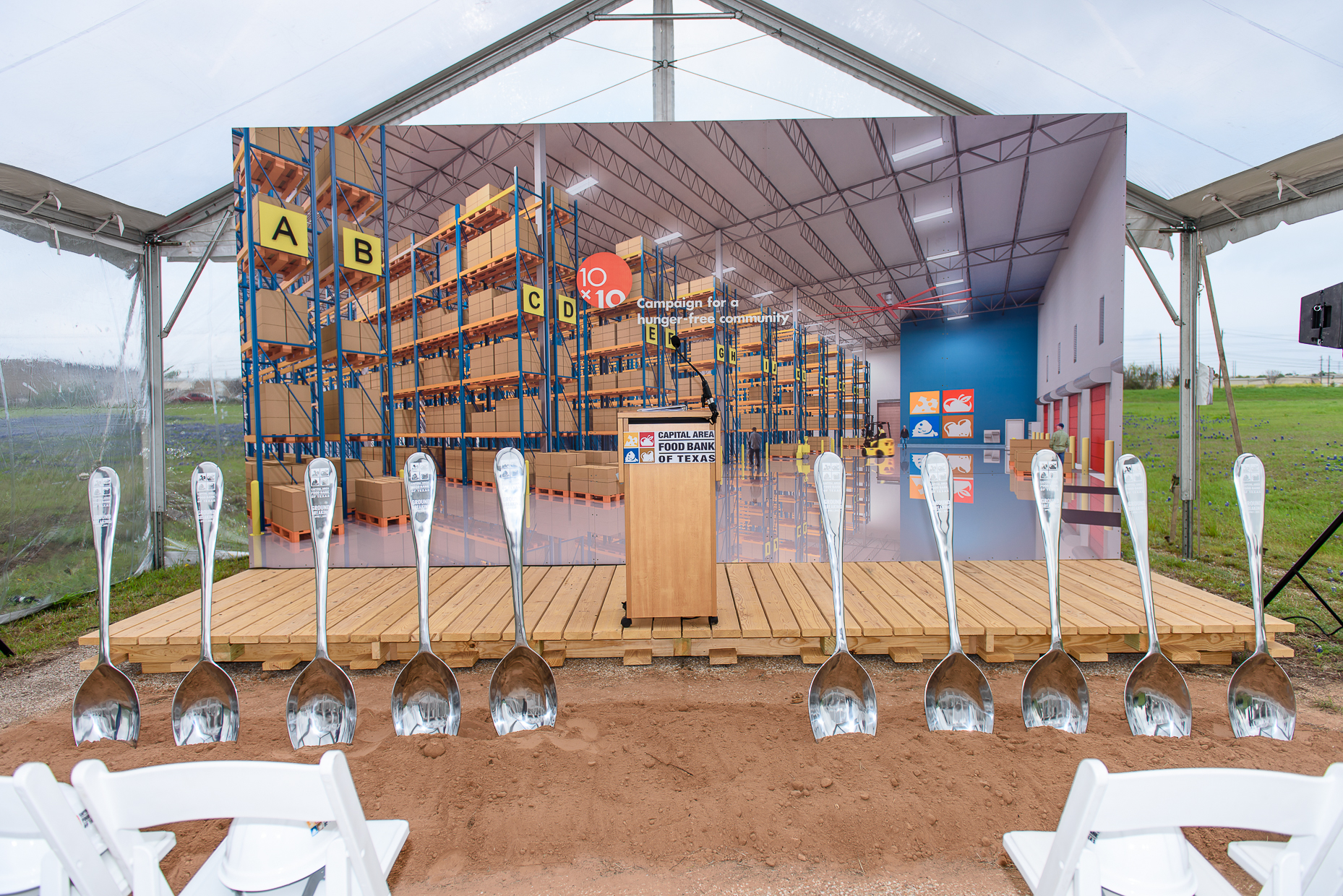 Austin Event Photographer - Capital Area Food Bank Ground Breaking